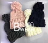 Высокое качество зимние шапки изготовленный на заказ<br/> Beanie ручной работы женщин Исландии пряжи Beanie Pompom