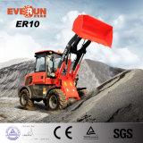 Lader van het Wiel van Everun 1.0ton van de Fabriek van China de Mini met Rops&Fops