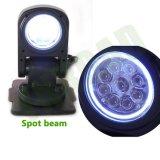 クリー語LEDsが付いているハローのリングが付いている7inch 45W LEDの検索ライト