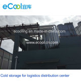 Chambre froide de conservation fraîche de nourriture de large échelle pour le centre serveur de distribution de logistique de chaîne du froid