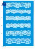 Tecido elástico de renda para vestuário / Vestuário / Sapatos / Bolsa / Malha M001 (largura: 8cm)