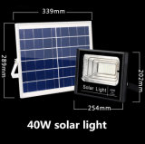 Luz de inundação solar do diodo emissor de luz 40W do preço de fábrica com painel solar e o controlador remoto