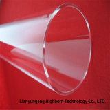 Alto tubo di vetro libero del quarzo fuso