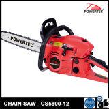 Powertec CE GS Démarrage facile 58cc de l'essence de scie à chaîne CS5800-12