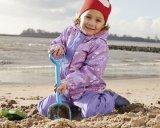 Малыши делают куртку и кальсоны водостотьким Rainwear PU водоустойчивые с ваткой Liling внутрь
