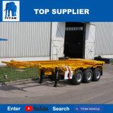 Vehículo del titán - semi-remolque esquelético de 40 del pie chasis del envase para la venta