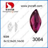 Forma de coser en Estrás plana de cristal de piedra de vuelta a granel