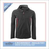 Куртка Softshell зимы Mens черная напольная с водоустойчивым слоением