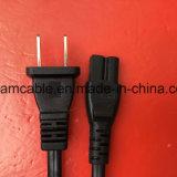 2 dientes Non-Polaried 1,2 m de cable de alimentación de CA con IEC C7
