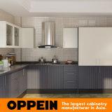 Armadi da cucina di legno della melammina semiaperta di Oppein con la barra d'angolo (OP15-M05)