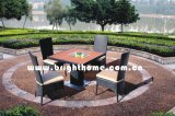 PE Rattan Wicker Furniture 정원 Outdoor Furniture Chair와 Table