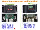 Cer RoHS Fangpusun 12V 24V 30A Solarladung-Controller Pr3030