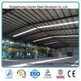 La tettoia della costruzione progetta la piccola costruzione prefabbricata della fabbrica dell'acciaio per costruzioni edili