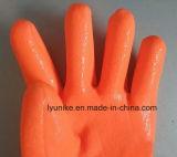 Зимние ПВХ флуоресцентный рабочие перчатки