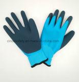 乳液の十分に倍増された外上塗を施してある、サンディ安全働く手袋または冬