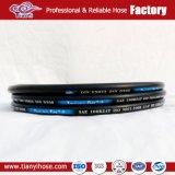 DIN en 2 couches857 2sc câble tressé en acier flexible en caoutchouc hydraulique