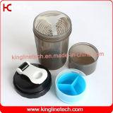 1개의 셰이커 적당 물병 (KL-7005)에 대하여 대중적인 디자인 단백질 셰이커 병 3