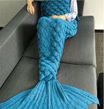 Русалки хвост одеяло принцесса Cosyplay Snuggle флис / ручной работы одеяло фантазии платье весь сезон