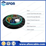 Câble fibre optique blindé de 8 faisceaux de conduit aérien