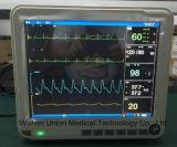 Video paziente di Multi-Parameter di 15 pollici con il sistema di controllo centrale