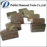 Marmeren Segment van het Zandsteen van het Graniet van het Segment van het Blad van de Diamant van de Rand van de steen het Scherpe