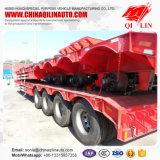 4 Wellen-niedrige Bett-LKW-Schlussteile für Exkavator-Transport
