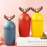 Taza hermosa del deporte del regalo del diseño de la Navidad de la taza al aire libre de cristal de los alces de la Navidad