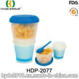 새로운 선전용 아침 시리얼 컵 플라스틱 샐러드 셰이커 컵 (HDP-2077)