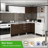 Unidade de gabinete de cozinha de melamina de estilo europeu