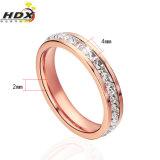Ring de van uitstekende kwaliteit van de Manier van de Ring van de Juwelen van het Roestvrij staal van de Diamant (hdx1029)