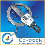 Máquina de revestimento hidráulica da flange do baixo afastamento resistente grande