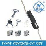 Fechamento preto do controle de Rod da porta da chave do armário Yh9509