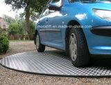 Plataforma revolvendo hidráulica do carro para a sala de exposições