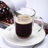 反熱いミルクのコップの倍の壁のガラスコーヒーカップのコーヒー・マグ