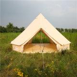Бежевый идеального качества изображения для использования вне помещений противомоскитные сетки стальные трубы Bell палатка 4m