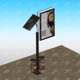 La publicité du panneau d'affichage solaire de cadre léger de poste de réverbère de produit