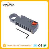 1PC Hogar Coaxial Pelacables Herramienta Multi/cortador giratorio de la herramienta extractora de cable coaxial RG59/6/58 Herramienta Red pelacables