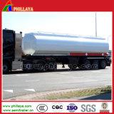 三車軸トレーラー50000リットルの半タンカーの燃料タンクのトラックの