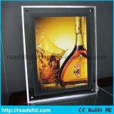 Diodo emissor de luz que anuncia a caixa leve de cristal que anuncia o frame