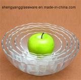 5 PCSのガラス・ボールのサラダボールのガラス・ボールのデザート用深皿のアイスクリームボール