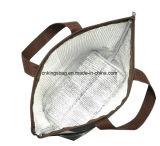 Microfiberの点プリントが付いている小型の絶縁された昼食のクーラー袋