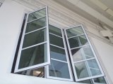 Casement vers l'intérieur de la fenêtre de pivotement en alliage en aluminium