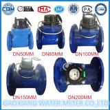 Agua fría seca desmontable Dn65mm del contador del agua de la dial del acero inoxidable