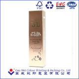 Rectángulos de empaquetado del oro de la tarjeta del papel del fotograbado del cosmético de encargo de la impresión