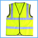 Vest van de Veiligheid van het Zicht van de Bescherming van de veiligheid het Hoge Gele Weerspiegelende