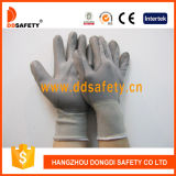 Shell Ddsafety 2017 Nylon Polyester enduit PU gris gant de travail d'assemblage