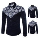 Les plus défuntes chemises d'hommes de combinaison de coton de qualité de Costom de vente en gros de mode