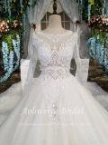 Aoliweiyaの優雅なベールの白いウェディングドレス