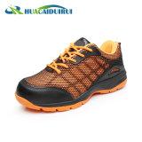 オレンジ夏の反粉砕の労働者の安全靴