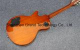 Os coletores da parte superior 2 do bordo da flama amarelam a guitarra elétrica do Lp (GLP-525)
